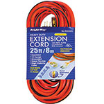 Heavy Duty Outdoor/Indoor Extension Cord w/ lighted end - 14 gauge