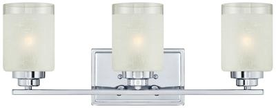 Three-Light Chrome Wall Fixture, 63438A