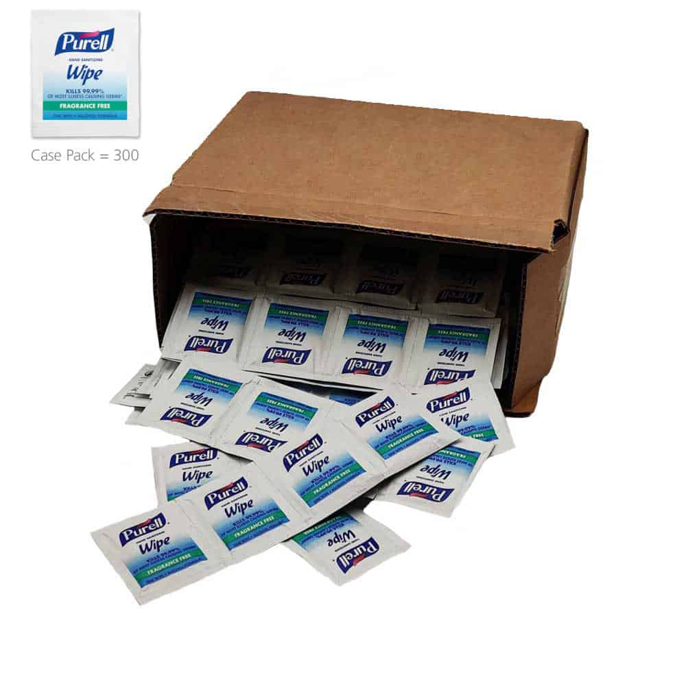 PURELL Individually Wrapped Hand Sanitizing Wipes, 300 count