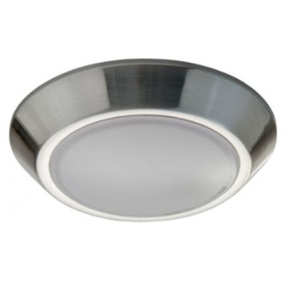 "5.5"" Brushed Nickel LED Modern Slim, flush mount ceiling fixture"
