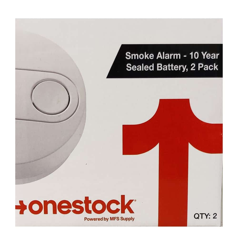 onestock Smoke Alarm with 10 Year Sealed Battery, 2 pack
