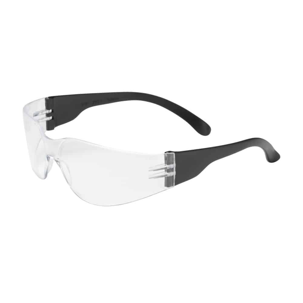 Zenon Safety Glasses, Rimless, Black