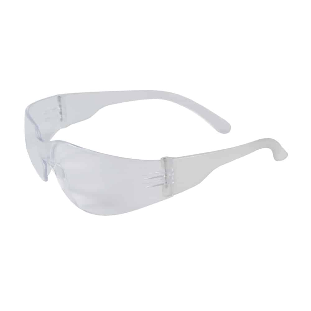 Zenon Safety Glasses, Rimless, Clear Frame