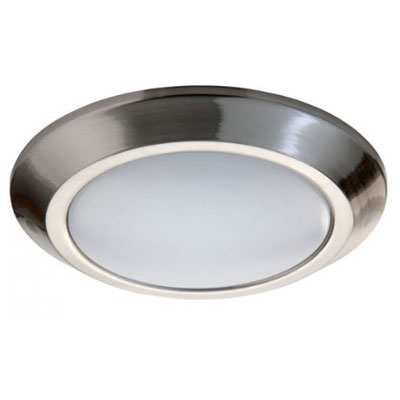8 brushed nickel led modern slim flush mount ceiling fixture