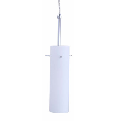 Led mini pendant bushed nickel frosted glass