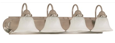 Monument® 4-Light Vanity Fixture, Brushed Nickel