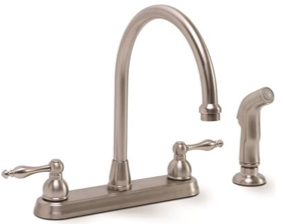 Premier® Wellington™ Two-Handle Kitchen Faucet With Side Spray, Brushed Nickel