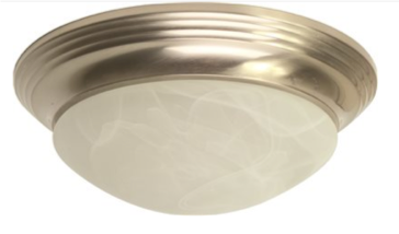 Royal Cove™ Flush Mount Ceiling Fixture, Brushed Nickel, 14