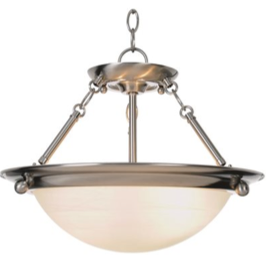 Monument® Contemporary Pendant, Brushed Nickel, 15-1/2