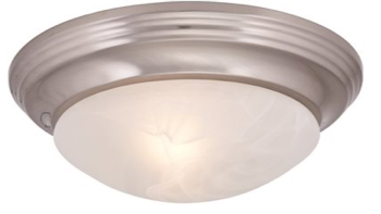 Royal Cove™ Flush Mount Ceiling Fixture, Brushed Nickel