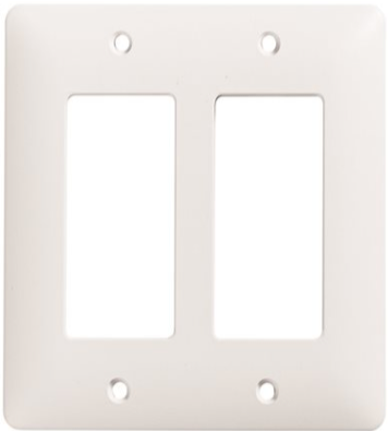 Masque 2 Gang Toggle Decorator Wall plate White