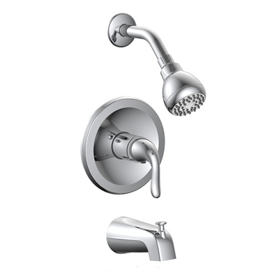 Single Control Tub & Shower Trim, Slip On Diverter, BL-730CDJP