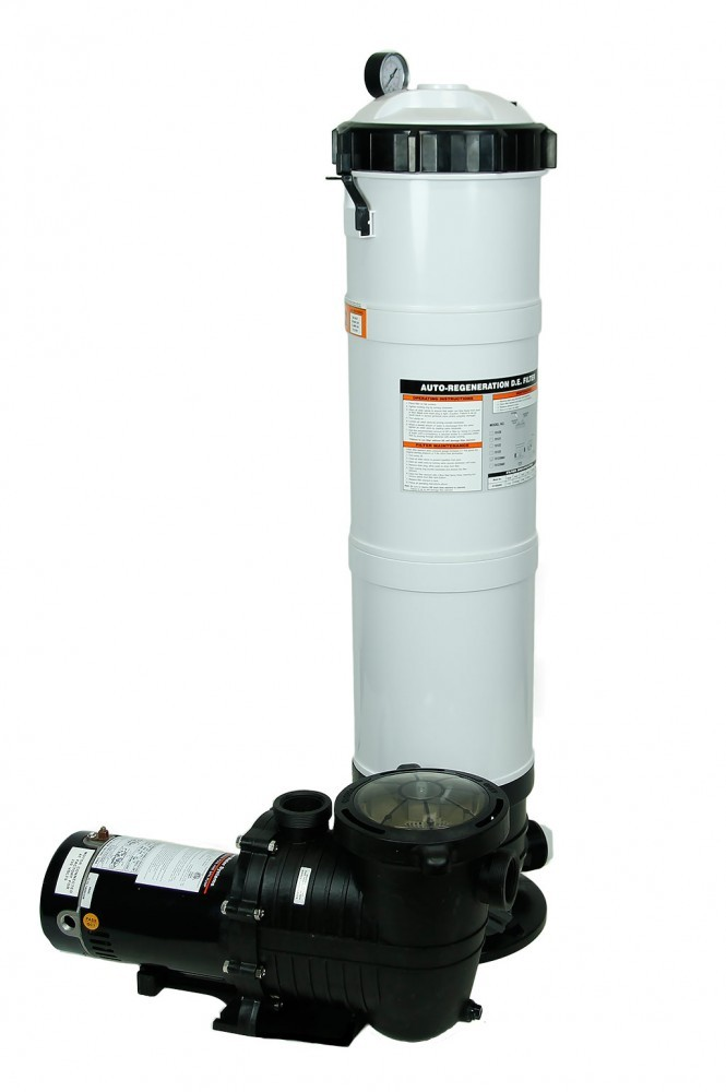 Rx Clear DE Element Filter System w/ 1 HP Pump
