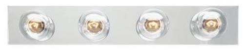 Four-Light Bath Bar Vanity Fixture with Chrome Finish, 66411
