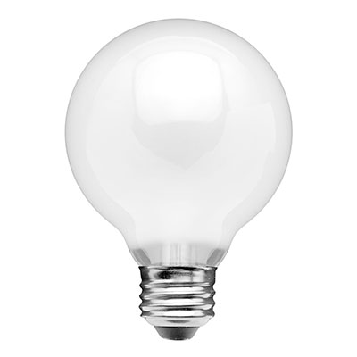 Frosted G25 LED Bulbs, 7W (60W), Soft White