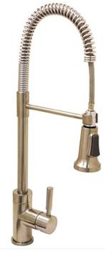 Premier® Essen™ Single-Handle Commercial-Style Pull-Down Kitchen Faucet, Brushed Nickel