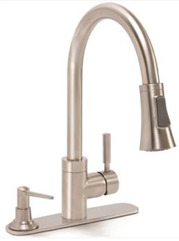 Premier® Essen™ Single-Handle Pull-Down Kitchen Faucet With Soap Dispenser, Brushed Nickel