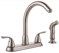 Premier® Sanibel™ Two-Handle Kitchen Faucet With Side Spray, Brushed Nickel