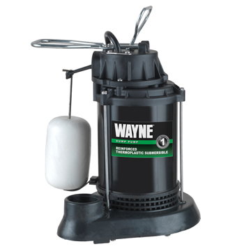 Wayne Sump Pump, 1/3 HP Vertical Float SPF33