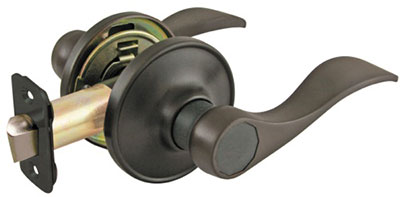 *Residential Grade 3* Lever Wave Style Passage Lock - Oil Rubbed Bronze