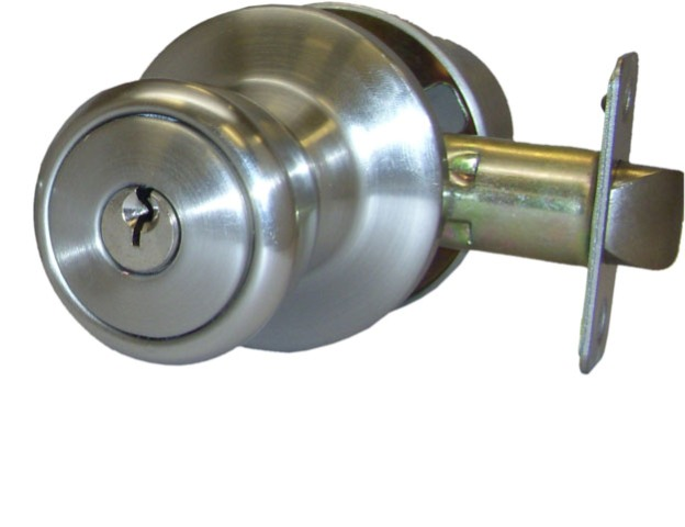 MFS Supply Contractor-Keyed Entry Door Polished Brass Entry Lock  2 keys 25345