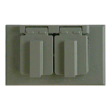 Plate-Exterior weatherproof outlet cover