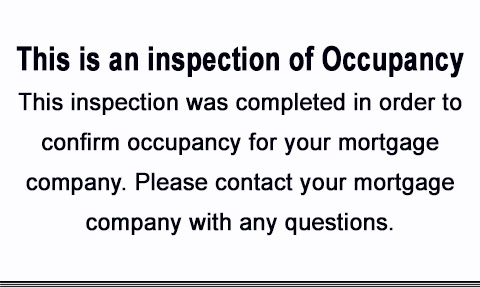 Occupancy Inspection Notices