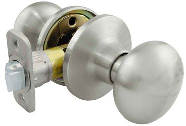 *Residential Grade 3* Flat Ball Style Passage Lock - Satin Nickel