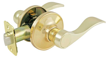 *Residential Grade 3* Lever Wave Style Passage Lock - Brass