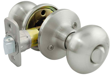 *Residential Grade 3* Flat Ball Style Privacy Lock - Satin Nickel