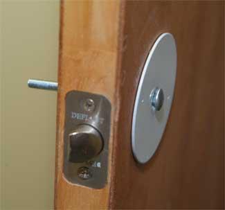 how to cut door lock hole