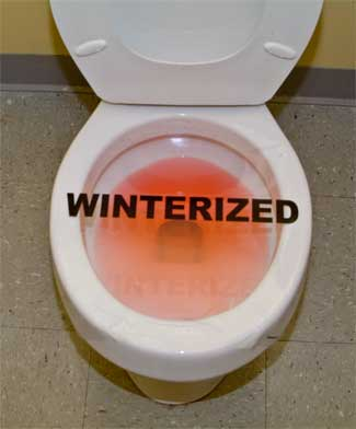 Toilet Wrap Static Stick Toilet Wrap Winterization