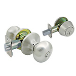 *Residential Grade 3* Flat Ball Style Entry Lock & Deadbolt Combo - Satin Nickel