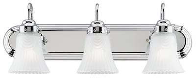 Three-Light, Frosted Glass, Vanity Light Fixture,  66522