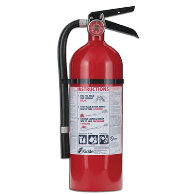 Kidde PRO210 4lb Fire Extinguisher with wall hook