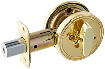 One-Sided Interior Deadbolt, Brass